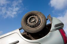 Free Car Turned Upside-down, Detail Stock Images - 18757674