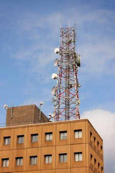 Free Telecommunication Center With Tower Royalty Free Stock Photos - 18757678