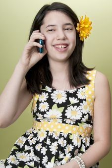 Free Girl On Cell Phone Royalty Free Stock Image - 18757816