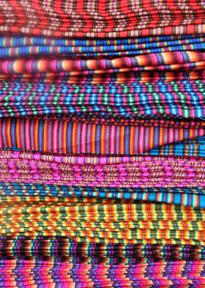Free Traditional Patterned Fabric In Ecuador Royalty Free Stock Photography - 18758347