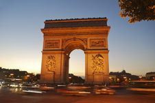 Free Arc De Triomphe Royalty Free Stock Photo - 18758515