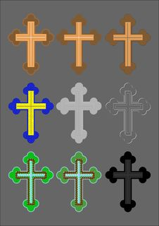 Free Cross With A Different Finish. Royalty Free Stock Photo - 18758585