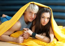 Free Young Couple In Bed Royalty Free Stock Photo - 18758795