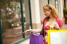Free Woman Shopping Stock Photo - 18758840