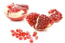 Free Pomegranate Isolated On White Stock Photography - 18759882