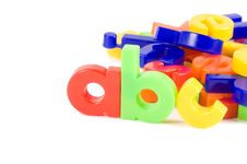 Plastic English Letters Isolated On White Royalty Free Stock Images