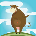 Free Happy Dancing Cow Background Royalty Free Stock Images - 18762819