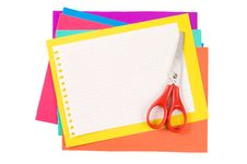 Free Colour Paper With Scissors Stock Image - 18760151