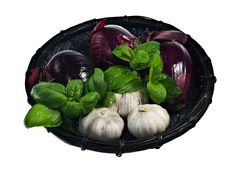 Free Red Onions And Garlic Royalty Free Stock Photography - 18761707