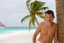 Free Young Man On A Tropical Beach Stock Photo - 18762260