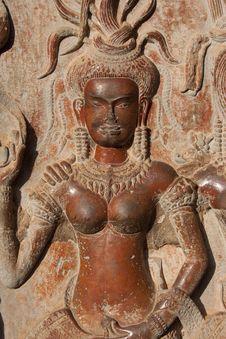 Stone Apsara - Angkor - Cambodia Stock Images