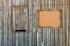 Free Cork Board On Bamboo Pa Stock Photography - 18763102