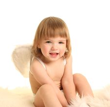 Free Cute Angel Royalty Free Stock Image - 18763216