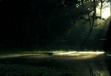 Free Dawn Over Angkor Lake Royalty Free Stock Image - 18763556