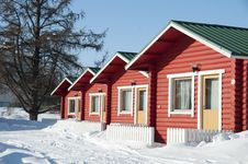 Free A Small Cottage In The Winter Forest For Rest Stock Images - 18763664