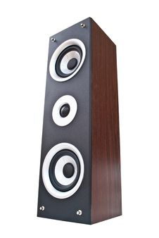 Free Wood Loudspeaker Isolate On The White. Stock Photo - 18763940