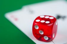 Free Red Dice Royalty Free Stock Images - 18764319