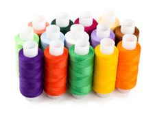 Free Spools Multi-colored Threads Standing Group Stock Photos - 18764343