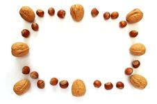 Nuts Photo Frame Royalty Free Stock Photo