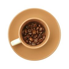 Free Cup With Coffee Beans Stock Images - 18764944