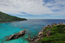 Tropical Similan Island Bay Royalty Free Stock Photography