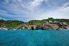 Free Tropical  Island Shore Royalty Free Stock Photo - 18765725