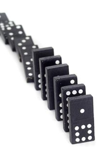 Free Toppled Dominos Stock Photos - 18766483