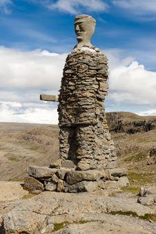 Big Stony Statue - Iceland Stock Image