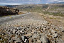 Free Empty Mountain Route - Vestfjord Iceland Royalty Free Stock Image - 18767006