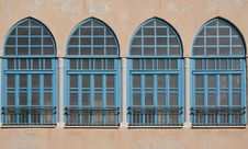 Free Blue Windows - Oriental Style Royalty Free Stock Images - 18767679