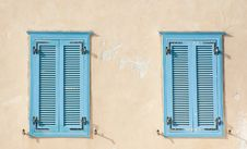 Free Blue Windows - Oriental Style Stock Photo - 18767710