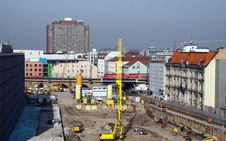 Construction In Berin, Germany. Stock Photography