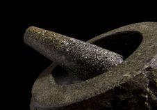 Free Granite Mortar And Pestle Royalty Free Stock Image - 18768156