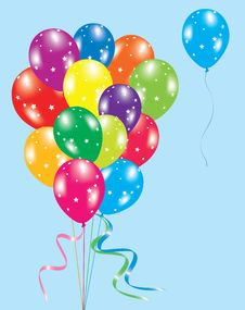 Free Colorful Balloons In The Sky Royalty Free Stock Images - 18768299
