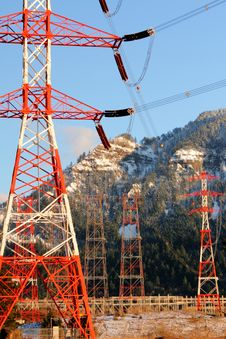 Free Bonneville Dam Power Line Towers, Pylons Stock Photography - 18769372