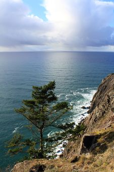 Free Peacefull Ocean On The Oregon Coast Royalty Free Stock Photo - 18769515