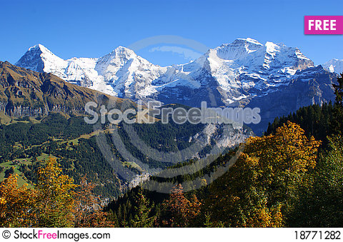 Free The Alpine Landscape Stock Photography - 18771282