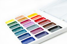 Free Watercolour Paints On A White Background Royalty Free Stock Photos - 18770268