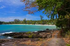 Free Pathway To Tropical Beach Royalty Free Stock Photos - 18770668