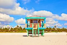 Beachlife At The White Beach In South Miami Royalty Free Stock Photography