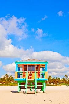 Beachlife At The White Beach In South Miami Stock Image