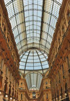 Free Glass Gallery - Galleria Vittorio Emanuele Stock Image - 18771681