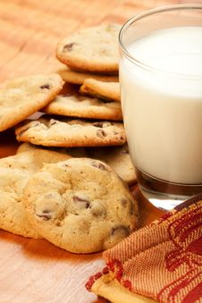 Free Cookies And Milk Stock Images - 18771774