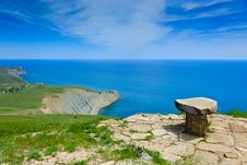 Free Stone Seat Above The Sea Royalty Free Stock Images - 18772409