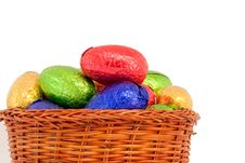 Free Basket Easter Eggs Stock Image - 18772421
