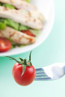 Free Tomato On A Spoon Royalty Free Stock Photography - 18772587