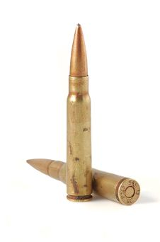 Free Shells Of AK47 And Bullets Of World War Royalty Free Stock Photos - 18773018