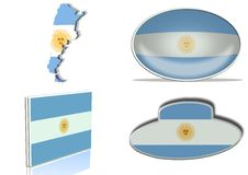 Free Argentina Flag Royalty Free Stock Image - 18773186