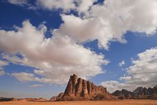 Free Wadi Rum Hill Stock Photography - 18773192