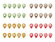 Pointer Tab Set With Web Navigation Icons Stock Photos